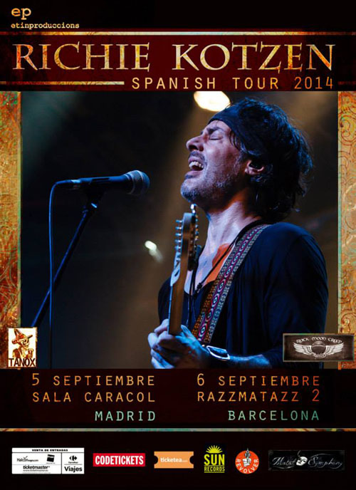 Richie Kotzen spanish tour 2014