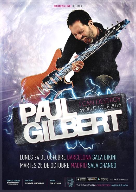 Paul Gilbert 2016