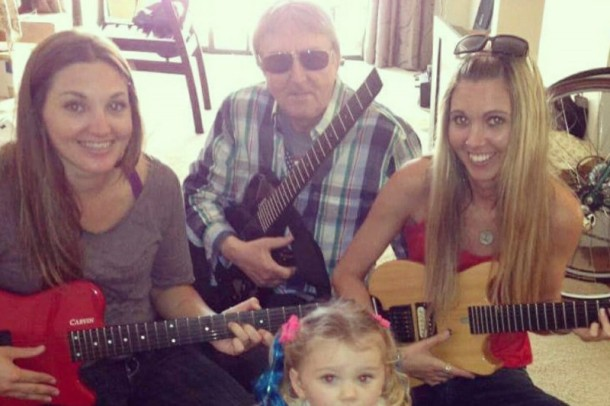Allan Holdsworth & family