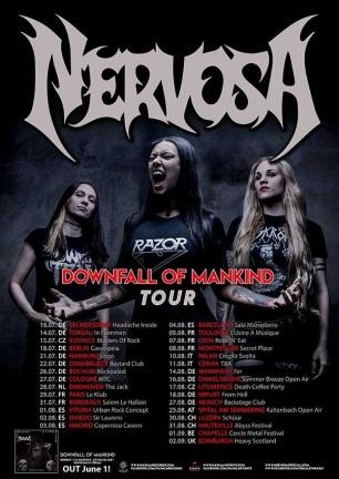 nervosa european tour 2018