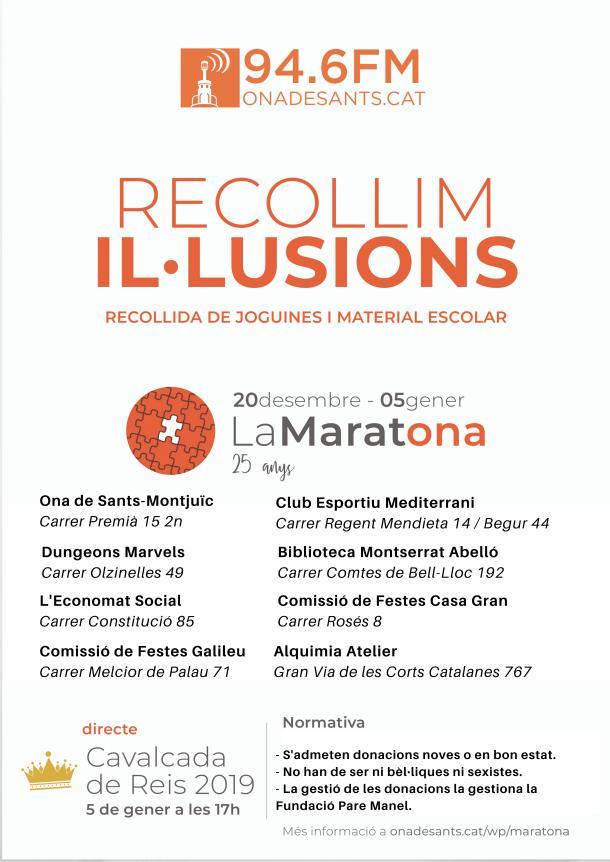 MaratOna 2019 puntos de recogida