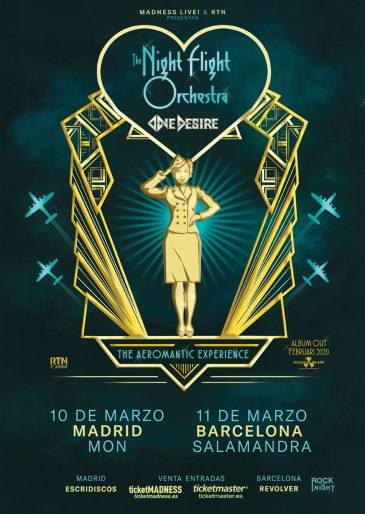The Night Flight Orchestra Spain Tour 2020