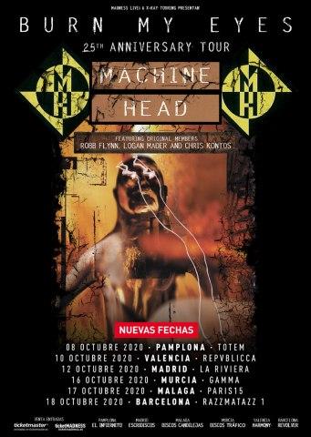 machine head new dates 2020