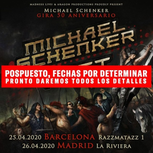 Michael Schenker Fest 2020 pospuesto