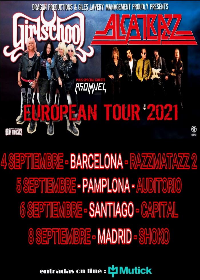 Alcatrazz + Girlschool Spain Tour 2021