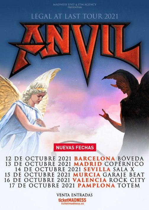 Anvil Spain Tour 2021
