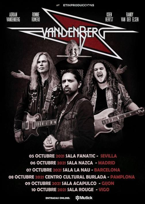 Vanderberg spain tour 2021