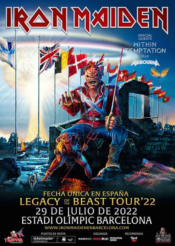 iron maiden spain tour 2022