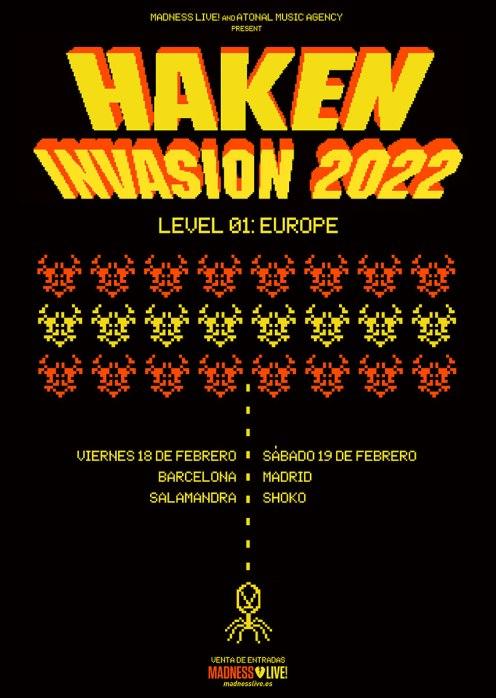 haken 2022 spain tour