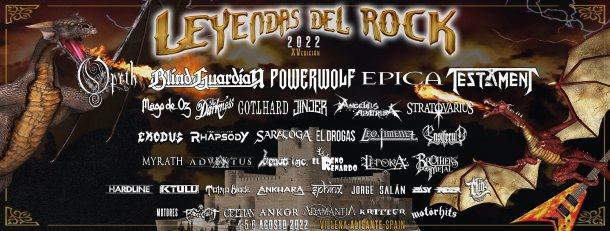 Leyendas del Rock 2022 banner horizontal