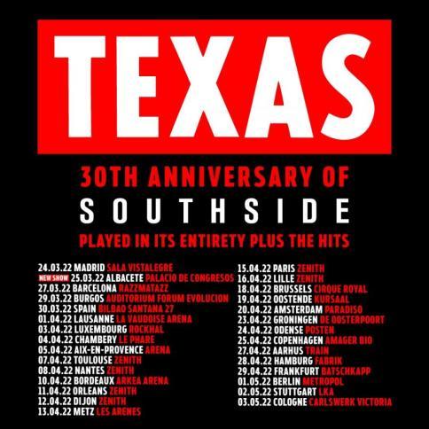 TEXAS spain tour 2022