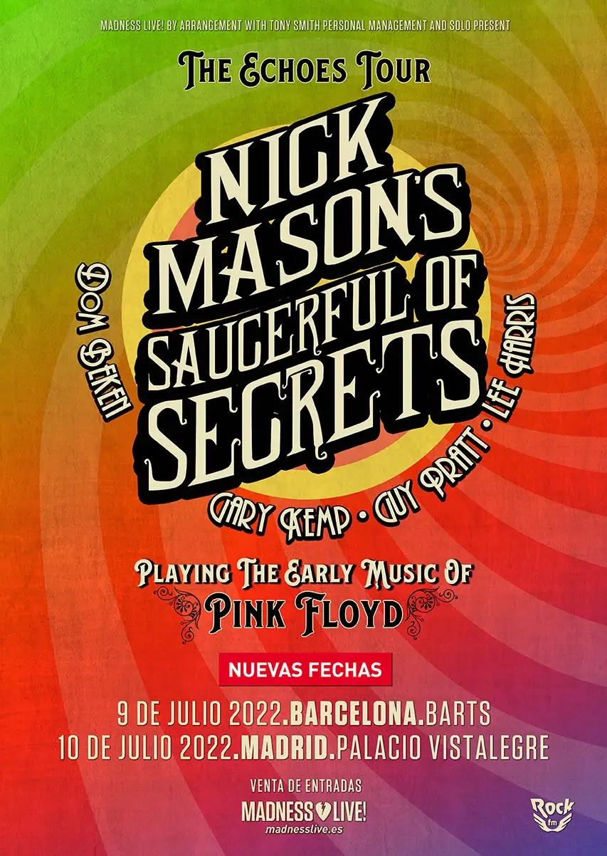 Nick Mason spanish tour 2022
