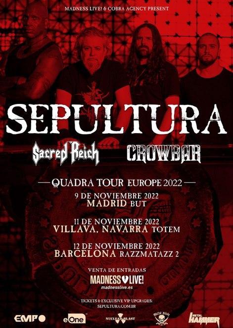 Sepultura spanish tour 2022